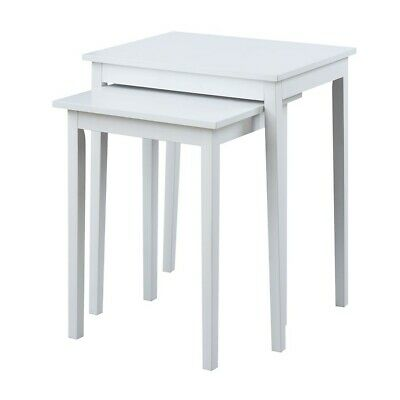 Convenience Concepts American Heritage Nesting End Tables, White - 7105076W