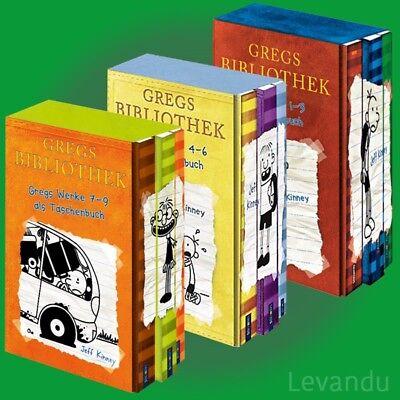 GREGS TAGEBUCH 1-9 | JEFF KINNEY | Band 1-3, 4-6, 7-9 als Taschenbuch im Schuber