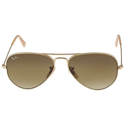 Ray Ban RB3025 112/85 55mm Matte Gold Brown Gradient Original Aviator Sunglasses