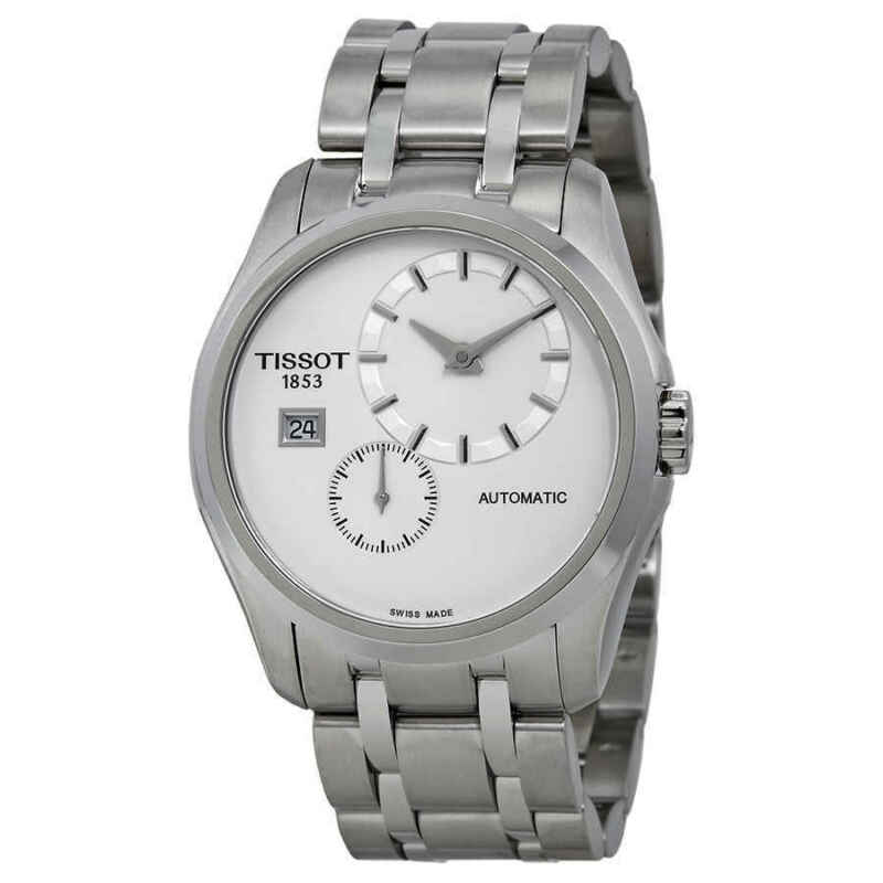 Tissot Couturier White Dial Stainless Steel Automatic Men Watch T0354281103100