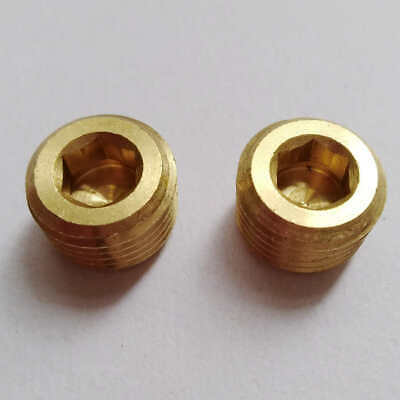 2pcs 14 Brass Bsp Bspt Pipe Thread Allen Head Plug Us Stock B182