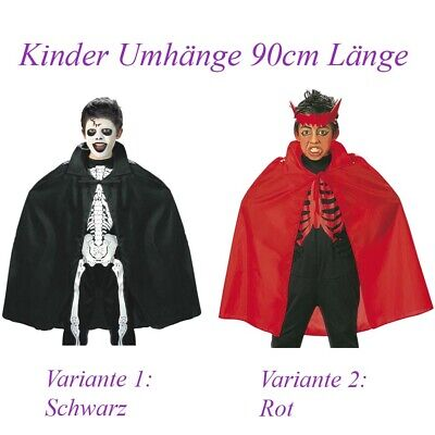 KINDER UMHANG Halloween Karneval Teufel Skelett Vampir Hexe Bandit Kostüm  3580