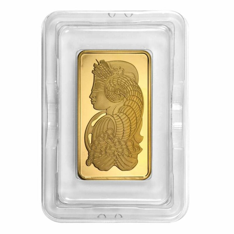 5 Oz Pamp Suisse Lady Fortuna Gold Bar .9999 Fine (in Assay)