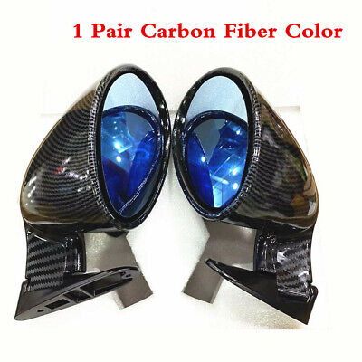Racing Car F1 Style Rear View Mirror Side Wing Plane Mirror Carbon Fiber Color