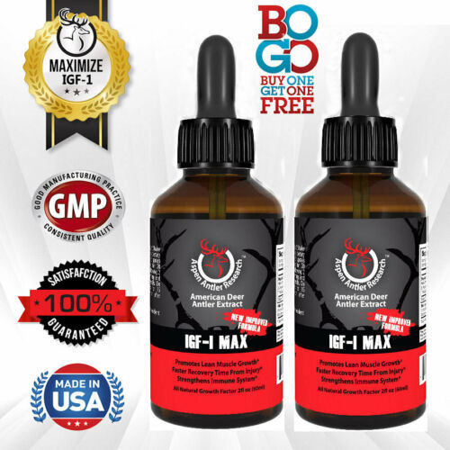 Deer Antler Velvet Extract Spray - IGF-1 | 200mgs, 2 Pack |  43X Concentration!