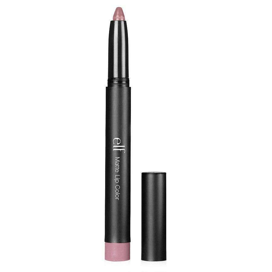 E.L.F Elf Matt Lippen Farbe Tea Rose Farbe Lippenstift Lipliner Liner Grau Pink
