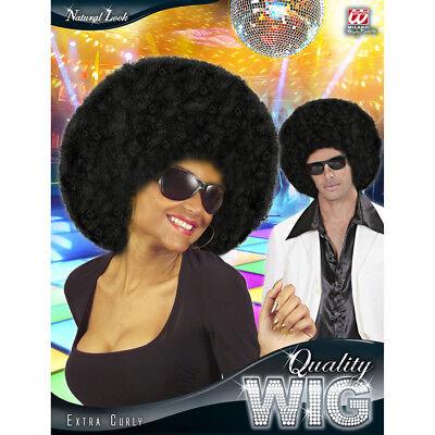 schwarz 70er Jahre Damen Herren Afroperücke Kostüm JGA 06820 (70er Jahre Herren Perücke)