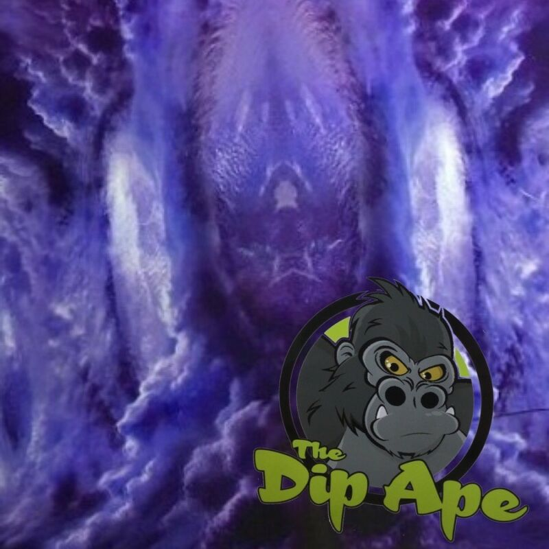GALAXY 7 PURPLE HYDROGRAPHIC WATER TRANSFER HYDRO FILM DIP APE