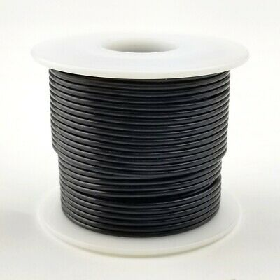 24 Awg Gauge Solid Black 300 Volt Ul1007 Pvc Hook Up Wire 100ft Roll 300v