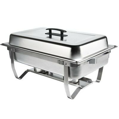 Chafer Single Tray 8- Qt. Set Commercial Stainless Steel Full Size Food Warmer
