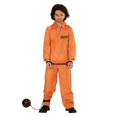 HÄFTLING KOSTÜM KINDER Karneval Fasching Amerikanische Sträfling Gefangener - Häftling Kostüm Kinder