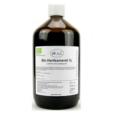 (20,95/L) Sala Bio Hanföl Hanfsamenöl kaltgepresst nativ 1000 ml 1 L
