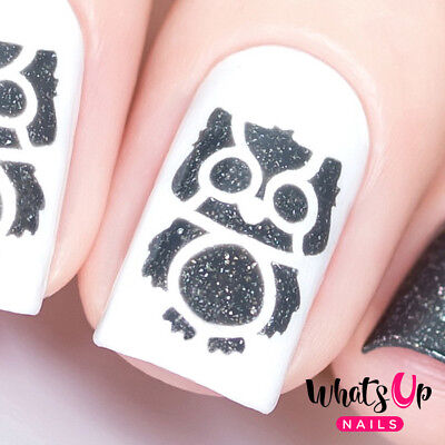 Owl Stencils for Nails, Halloween Nail Stickers, Nail Art, Nail Vinyls (Nail Art Halloween Stencils)