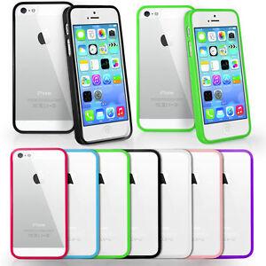 Funda bumper de silicona con tapa trasera transparente para iphone 5 5g 5s apple ebay - Fundas de silicona para iphone 5 ...