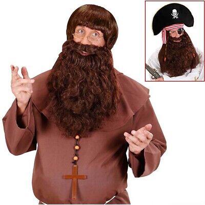 BRAUNER DELUXE XL VOLLBART # Karneval Piraten Mönch Geistlicher Kostüm Bart - Volle Piraten Kostüm
