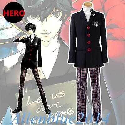 Game Persona 5 Hero Joker Cosplay Kostüm Costumes Jacke Shirt Pants Full Outfits (Joker Cosplay Kostüm)
