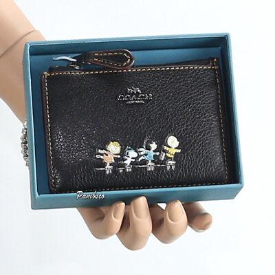 NWT Coach 45609 Signature Applique Black and Multicolor Skinny Wristlet Wallet
