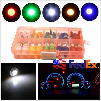 40 Pcs T5 T10 RGB LED 5050SMD Car Interior Dashboard Indicator Light Bulb DC12V