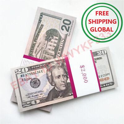 PROP MONEY $20x100pcs US Dollar fake Movie Money SHOOTING MOTION PICTURE MONEY