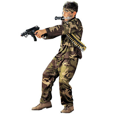 Armee Kinder Kostüme (SOLDAT KOSTÜM KINDER Karneval Fasching Armee Uniform Jungen Special Agent # 3840)