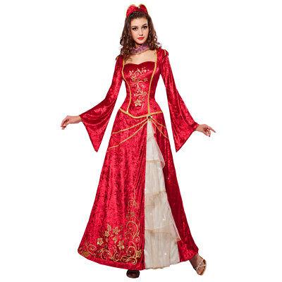 STÜM # Karneval Mittelalter Gothic Prinzessin MA Kleid 0772 (Kostüm Ma)