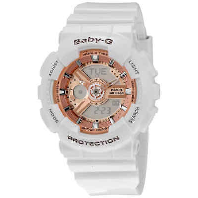 Casio Baby G White Resin Ladies Watch BA110-7A1