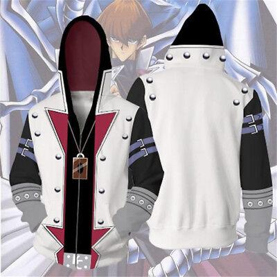 Yu-Gi-Oh Anime Kapuzenpullover Seto Kaiba Cosplay Kapuzenjacke Kostüm (Yu Gi Oh Kostüm)