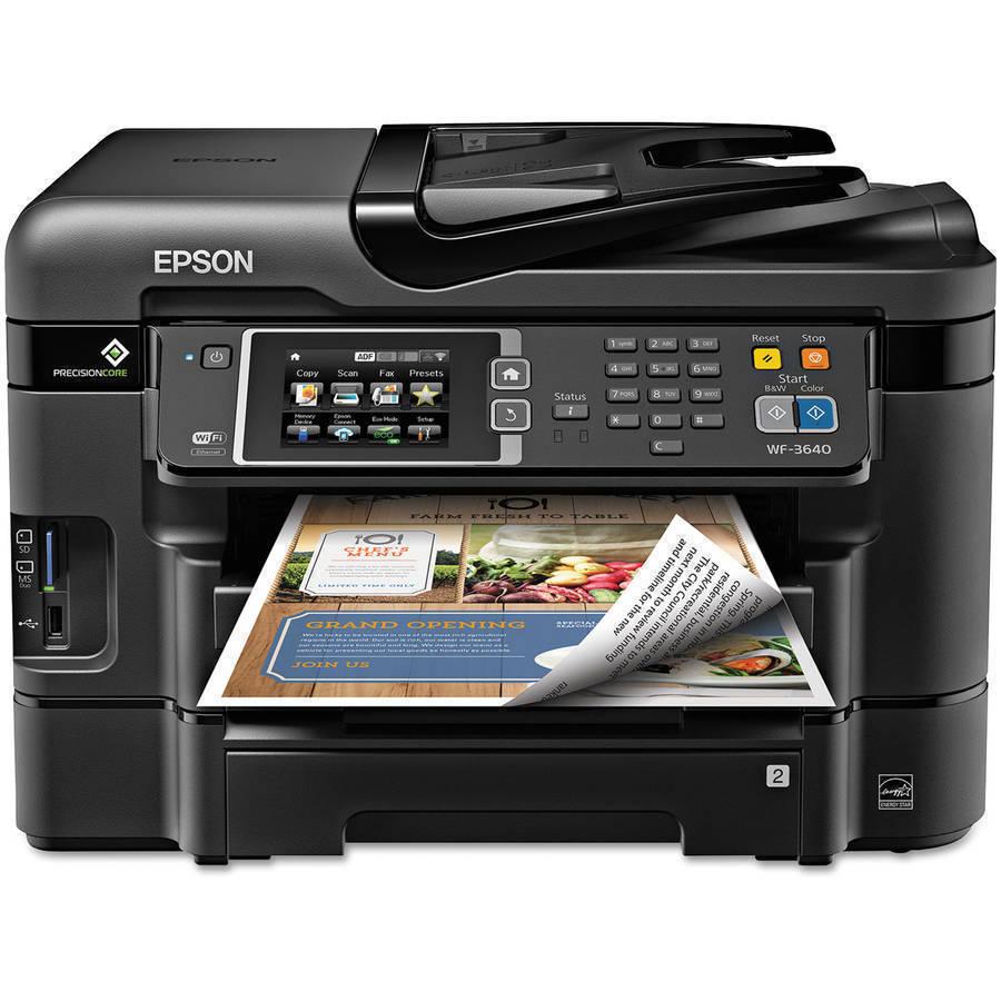 Epson WorkForce WF-3640 Wireless Color All-in-One Inkjet Pri