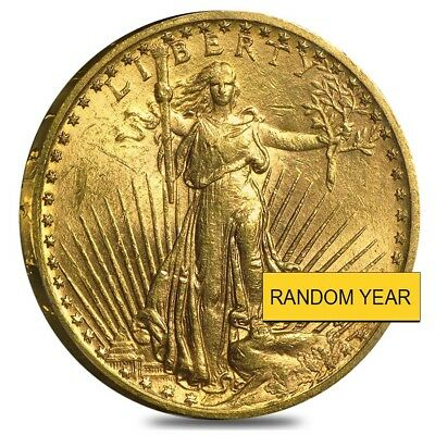 $20 Gold Double Eagle Saint Gaudens - Brilliant Uncirculated BU (Random Year)