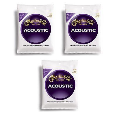 Martin Acoustic Guitar Strings M175 Custom Light 11-52 - 3 SETS
