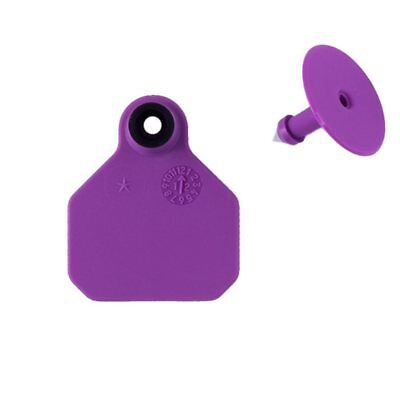 Y-TEX SMALL 2-STAR TAGS Sheep//Goat//Calf Fade Tear Resistent #1-25 Purple 25ct pk