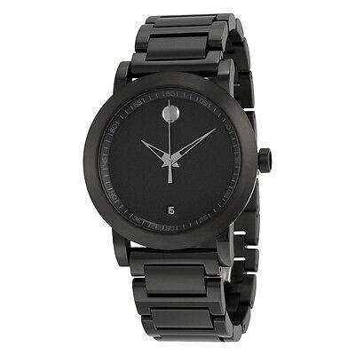 Movado Museum Sport Black Dial Black IP Stainless Steel Mens Watch 0606615