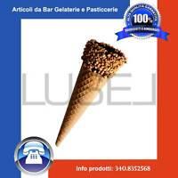 Pz 170 Cono Per Gelati In Cialda Arrotolata Ricoperto Con Granella Di Nocciola -  - ebay.it