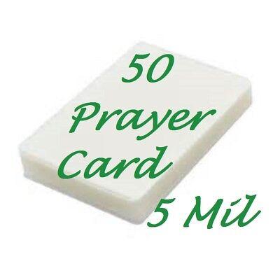 Laminating Laminator Pouches Sheets Prayer Card 50 Pk 5 Mil 2-34 X 4-12