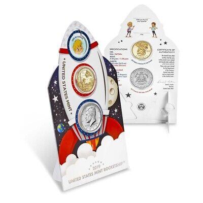 2019 US Mint Rocketship 2-Coin Set Commemorative (w/Box & COA)