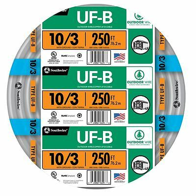 250 Roll 10-3 Awg Uf-b Gauge Outdoor Burial Electrical Feeder Copper-wire Cable