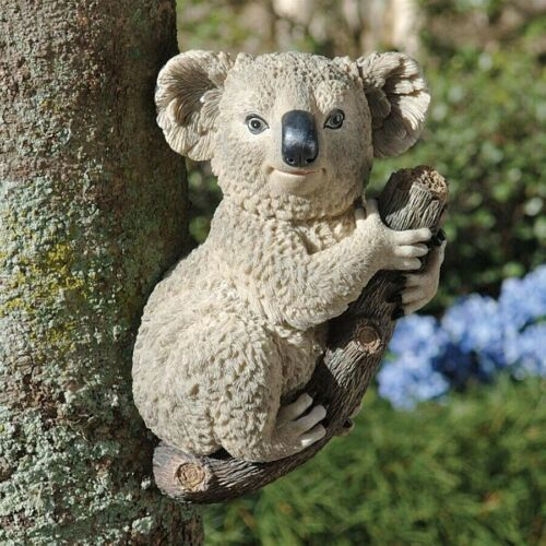 Cute Climbing Australian Koala On Limb Marsupial Garden Tree Branch Sculpture