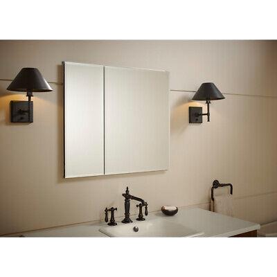 - KOHLER 30-in x 26-in Rectangle Recessed Aluminum Mirrored Medicine Cabinet