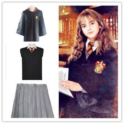 Gryffindor School Hermione Granger Cosplay Costume Uniform Full Set - Costume Hermione Granger