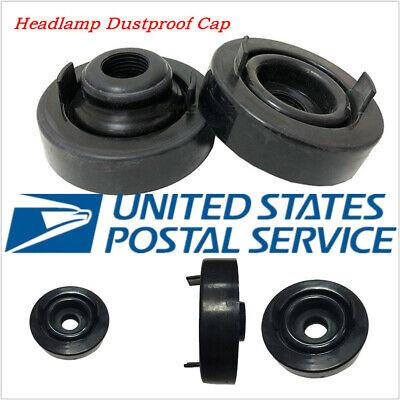 USA Stock 1 Pair 70mm Black Rubber Car LED Headlamp Retrofitting Dust Cover Caps ()