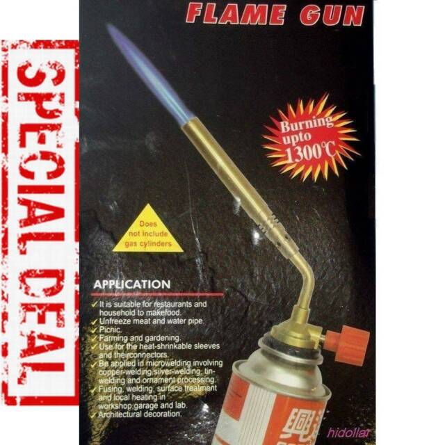 Camping Welding Gas Brass Torch Blowtorch Flame Gun Fit