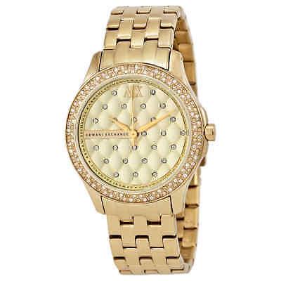 Armani Exchange Lady Hamilton Champagne Dial Unisex Watch AX5216