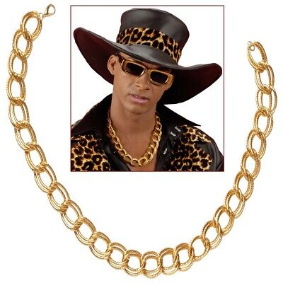 PIMP HALSKETTE Rapper Gangster Goldkette Millionär Zuhälter Kostüm Schmuck 7138