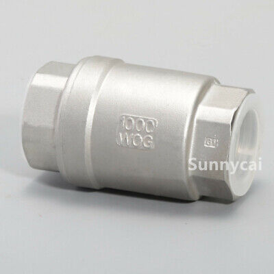 Spring Check Valve 34 Inch Lift Npt 1000psi Stainless Steel Oil Gas Us