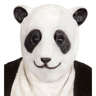 LATEX PANDA MASKE # Pandamaske Pandabär Bärenmaske Bären Kostüm Party Deko 96630 ()