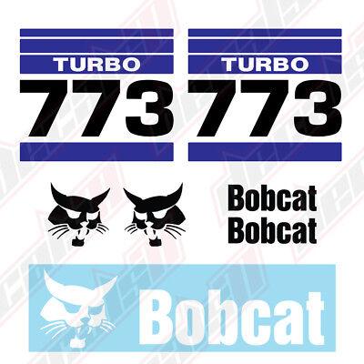 Bobcat 773 Turbo V2 Skid Steer Set Vinyl Decal Sticker - Aftermarket