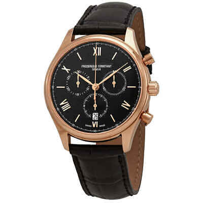 Frederique Constant Chronograph Black Dial Men's Watch FC-292MB5B4