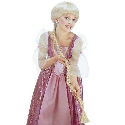 BLONDE KINDER ZOPFPERÜCKE Märchen Rapunzel Prinzessin Kostüm Party  Perücke 6290