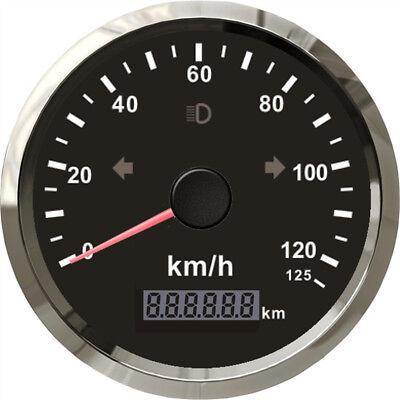 85mm Stainless Steel Motorcycle ATV GPS Speedometer Odometer 125km/h Waterproof