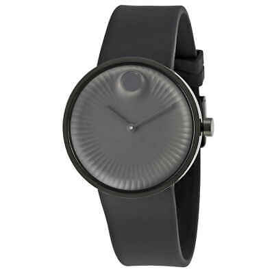 Movado Edge Black Dial Black Silicone Men's Watch 3680005